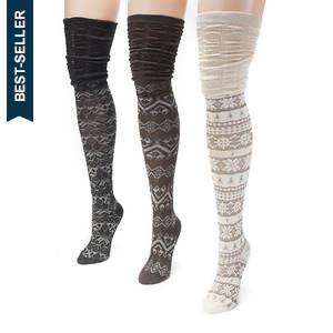 3-Pack Microfiber Over the Knee Socks