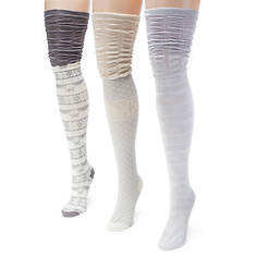 3-Pack Microfiber Over the Knee Socks