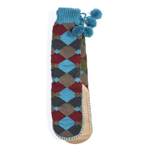 MUK LUKS Slipper Socks with Poms (Women's)