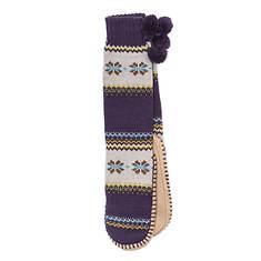 MUK LUKS Slipper Socks with Poms (Women's)
