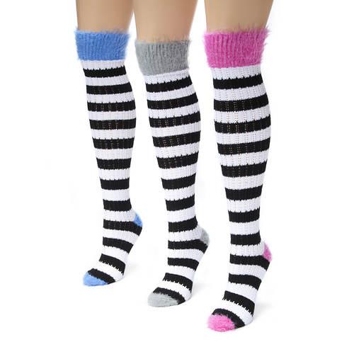 3-Pack Pointelle Knee High Socks