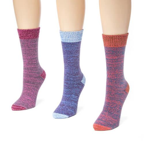 MUK LUKS 3-Pack Microfiber Boot Socks