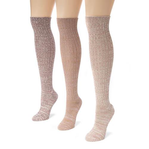 3 Pair Marl Knee High Socks
