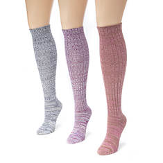 3 Pair Marl Knee High Socks