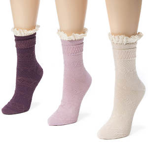 3 Pair Lace Top Socks