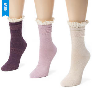 3 Pair Lace Top Socks