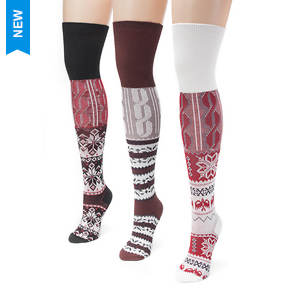 3-Pack Lodge Over the Knee Socks