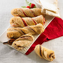 Cinnamon & Raspberry Pastry Twists