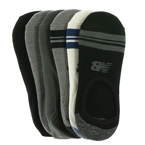 New Balance Men's N200-6 Ultra Low No Show 6PK Socks