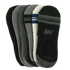 New Balance Men's N200-6 Ultra Low No Show 6PK Socks