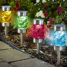 Set Of 4 Stainless Lights