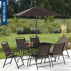 8-Piece Folding Sling Patio Set