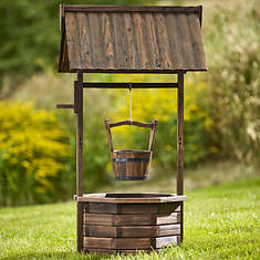 Rustic Wood Wishing Well