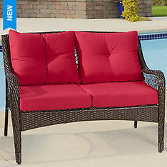 All Weather Wicker Loveseat