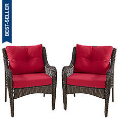 All Weather Wicker Set Of 2 Chairs