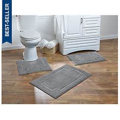 Serene 3-Piece Bath Rug Set