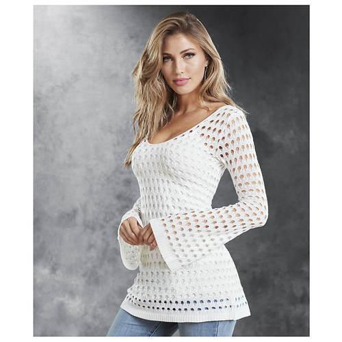 Bell Sleeve Crochet Tunic