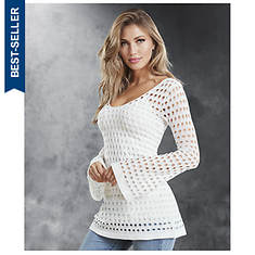 Bell Sleeve Crochet Tunic