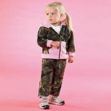 Camo Fleece Set-Pink