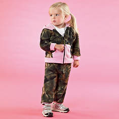 Camo Fleece Set-Pink