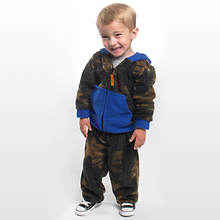 Camo Fleece Set-Blue