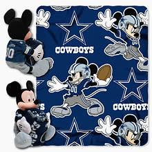 NFL Mickey Hugger Throw Set-Cowboys