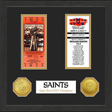 Super Bowl Ticket Collection-Saints