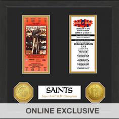 Super Bowl Ticket Collection-Saints