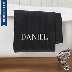Personalized Bath Sheet-Black