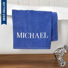Personalized Bath Sheet-Blue