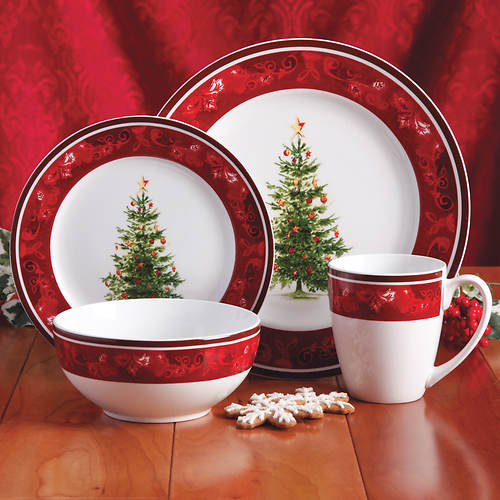 Gibson 16 Pc. Noel Dinnerware Set