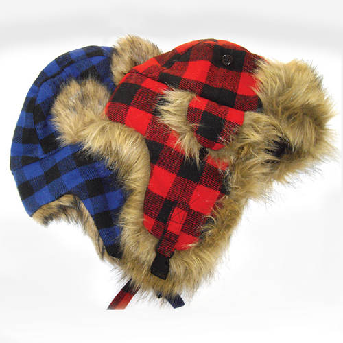 Buffalo Check Quilt Trapper Hat