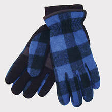 Buffalo Check Glove With Thinsulate-Blue