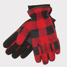 Buffalo Check Glove With Thinsulate-Red