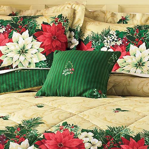 Poinsettia Accent Pillow