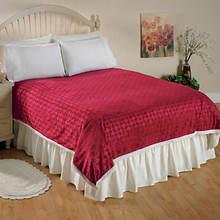 Fantasia Sherpa Blanket-Scarlet