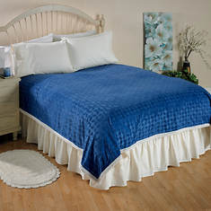 Fantasia Sherpa Blanket-Blue