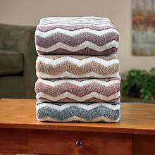 Chevron Microplush Blanket-Burgundy