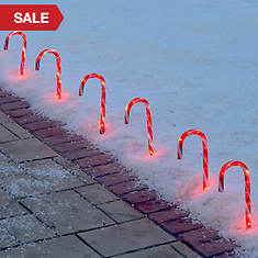 10-Pc. Candy Cane Lawn Stakes