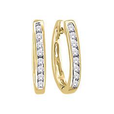 10K Diamond Huggie Earrings .10 ct. tw.