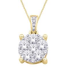 14K Diamond Flower Pendant .25 ct. tw.