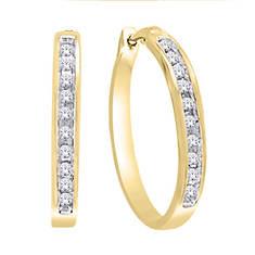 10K Diamond Hoop Earrings .20 ct. tw.