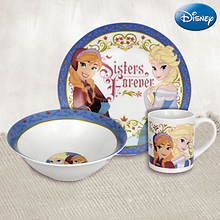 Disney® 3-piece Dinnerware Set - Frozen® Sisters Forever