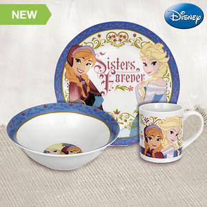 Disney® 3-piece Dinnerware Set - Frozen® Sisters Forever