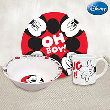 Disney® 3-piece Dinnerware Set - Mickey Hug Me