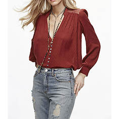 Free People Women's Canyon Rose Buttondown