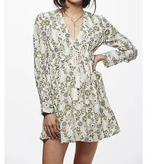 Free People Women's Stealing Fire Print Mini Dress