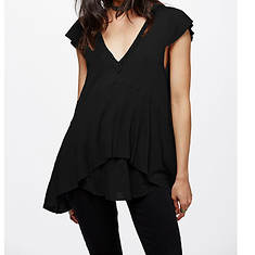 Free People Women's Cotton Linen Rib Mary Anne Tee