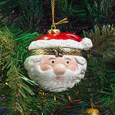 Porcelain Secret Hinged Ornaments-Santa