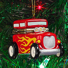 Porcelain Secret Hinged Ornaments-Car